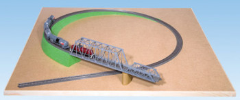 Single Track Foam Ramp with Slope 135x4.5cm for N Scale