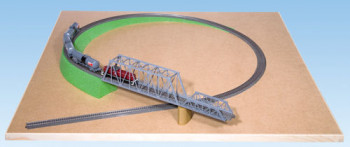 Single Track Foam Ramp without Slope 115x8cm for HO Scale
