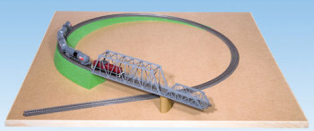 Single Track Foam Ramp without Slope 175x9cm for HO Scale
