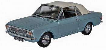Ford Cortina MkII Crayford Convertible Blue Mink Roof Up
