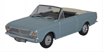 Ford Cortina MkII Crayford Convertible Blue Mink Roof Down
