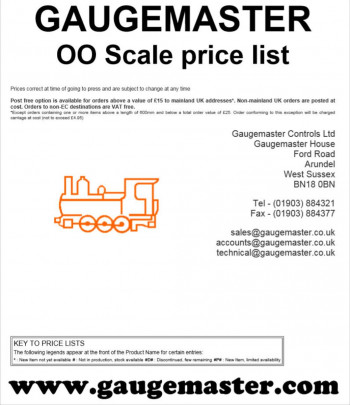 OO Scale Retail Price List
