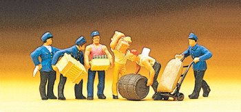Delivery Men with Loads (6) Exclusive Figure Set