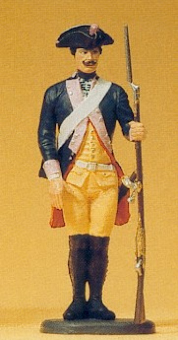 Prussian (1756) 7 Musketeer Standing Gun Lowered Figure