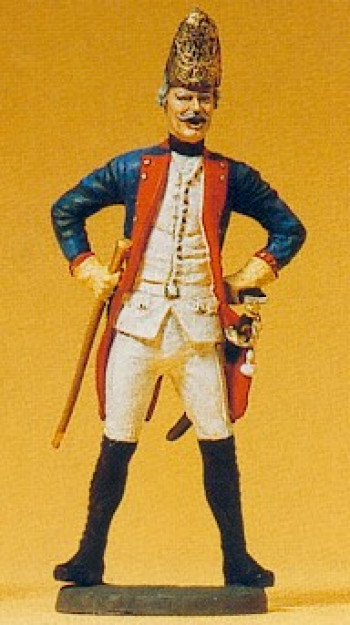 Prussian (1756) 38 NCO Standing Fusilier Figure