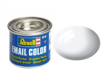 Enamel Paint 'Email' (14ml) Solid Gloss White RAL9010