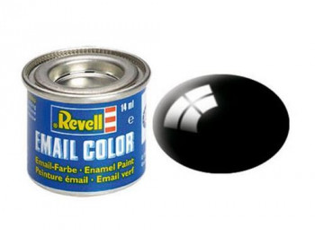 Enamel Paint 'Email' (14ml) Solid Gloss Black RAL9005