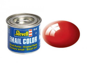 Enamel Paint 'Email' (14ml) Solid Gloss Fiery Red RAL3000