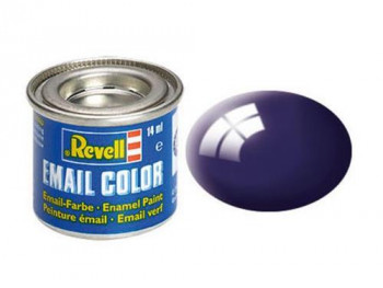 Enamel Paint 'Email' (14ml) Solid Gloss Night Blue RAL5022
