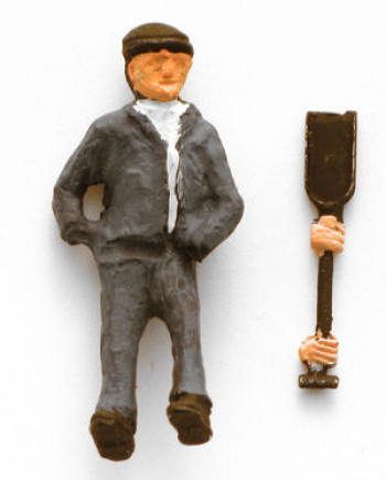 Fireman with Shovel Figure