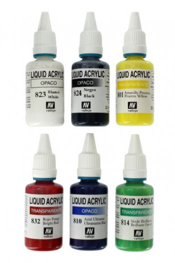 Acrylic Paint Set (6 x 32ml Colours)