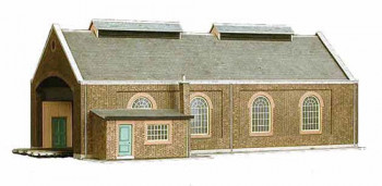 Two Track Engine Shed Card Kit