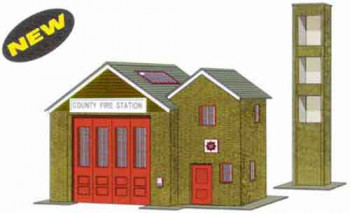 Country Fire Station Card Kit
