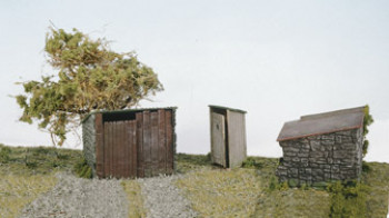 Grotty Huts (2) and Privy Kit