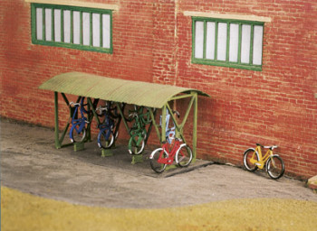 Bicycle Shed with Racks and Corrugated Roof Kit