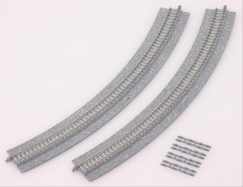 Curved Track with Wide Underlay (4) R317 45 Deg