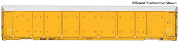 89' Tri-Level Enclosed Auto Carrier BNSF 303061