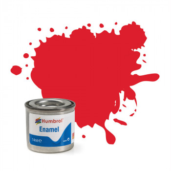 No 19 Bright Red Gloss Enamel Paint (14ml)