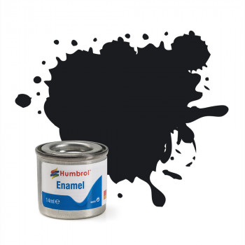 No 21 Black Gloss Enamel Paint (14ml)
