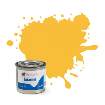 No 24 Trainer Yellow Matt Enamel Paint (14ml)