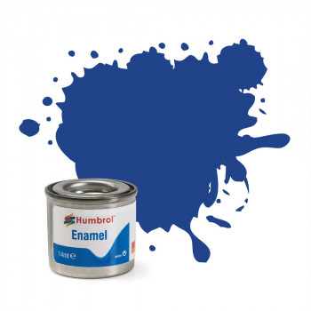 No 25 Blue Matt Enamel Paint (14ml)