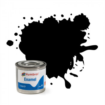 No 33 Black Matt Enamel Paint (14ml)