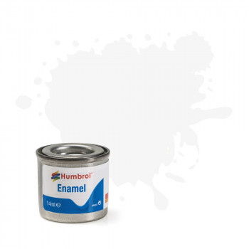 No 34 White Matt Enamel Paint (14ml)