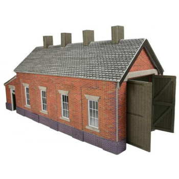 Brick Single Track Engine Shed Card Kit