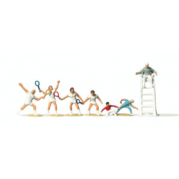 Tennis Players and Officials (7) Figure Set