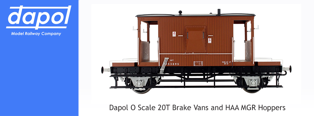 Dapol O Scale 20T Brake Vans and HAA MGR Hoppers