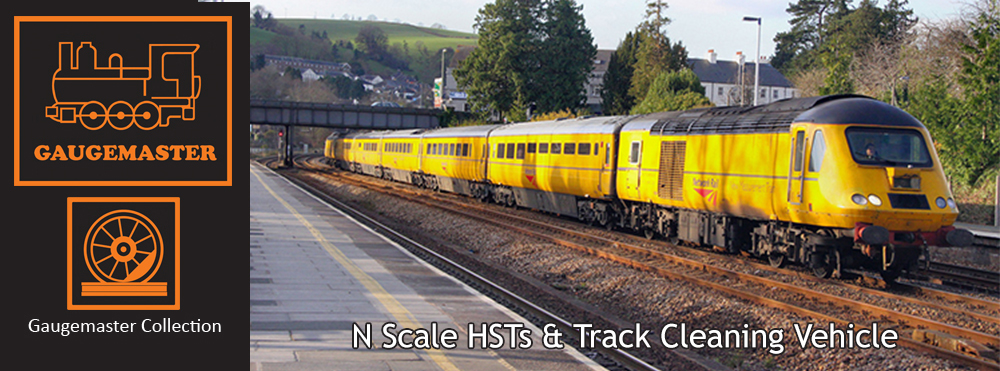 Gaugemaster Collection N Scale HSTs and Track Cleaning Vehicle