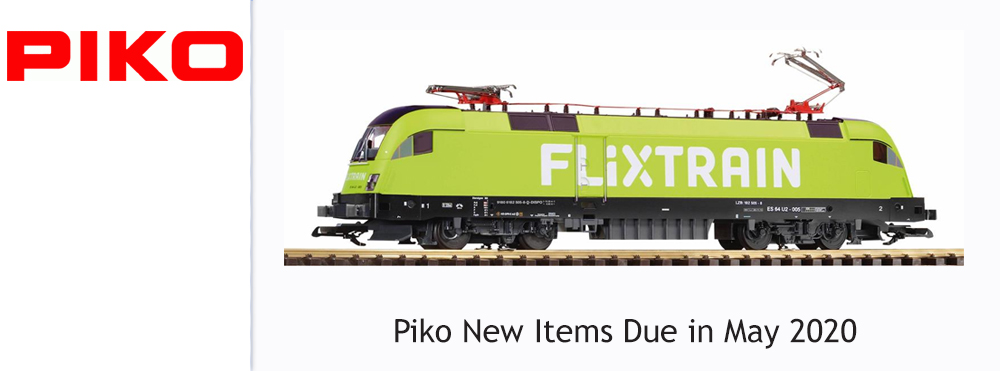 Piko New Items Due in May 2020